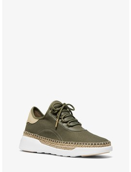 Finch Canvas And Leather Lace Up Sneaker by Michael Michael Kors