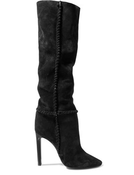 Mica Suede Knee Boots by Saint Laurent