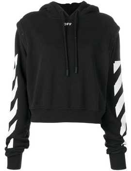 Stripe Detailed Hoodie by Off White