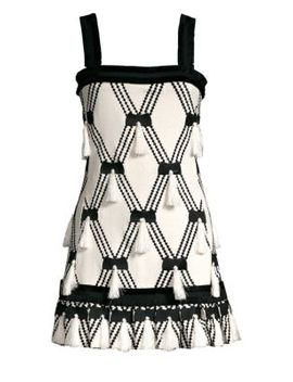 Bijou Knit Tassel A Line Mini Dress by Alexis