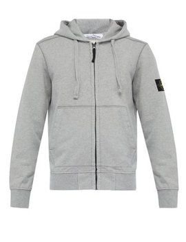 zip-through-cotton-jersey-hooded-sweatshirt by stone-island