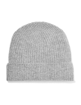 Ribbed Cashmere Beanie by Johnstons Of Elgin