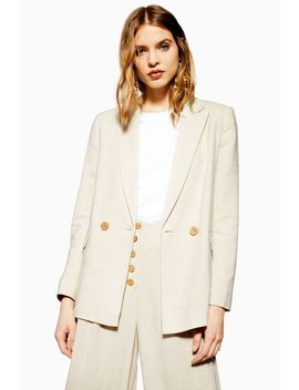 Blazer With Linen by Topshop