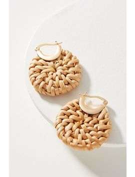 Woven Hoop Earrings by Anthropologie