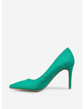 Wide Fit Green 'Danielle' Court Shoes by Dorothy Perkins