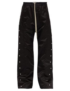 Press Stud Fastening Satin Loose Leg Trousers by Rick Owens