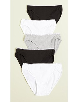 Signature Bikini Briefs 5 Pack by Calvin Klein Underwear