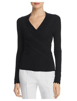 Madeline Crossover Sweater by Elie Tahari