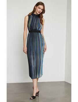 Rainbow Pleated Midi Dress by Bcbgmaxazria