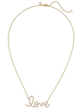 Big Love 14 Karat Gold Diamond Necklace by Sydney Evan