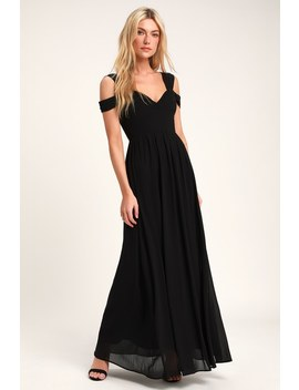 Make Me Move Black Maxi Dress by Lulus