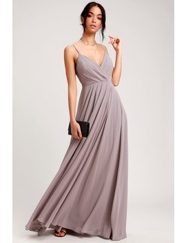All About Love Taupe Maxi Dress by Lulus
