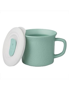 Corningware 20oz Hammered Pop In Portable Drinkware Turquoise by Corning Ware