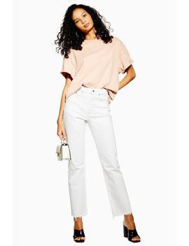 Off White Straight Jeans by Topshop