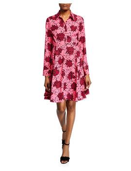 Bubble Dot Long Sleeve Smocked Dress by Kate Spade New York