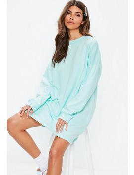 Mint Pastel Oversized Sweater Dress by Missguided