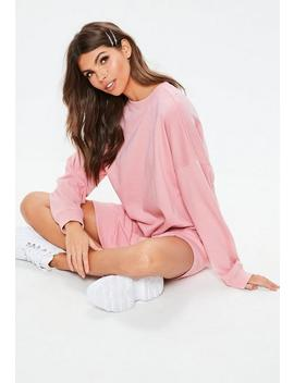 pink-pastel-oversized-sweater-dress by missguided