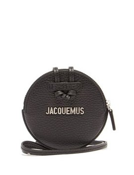 Le Pitchou Leather Necklace Bag by Jacquemus