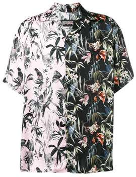 Split Floral Print Shirt by Represent