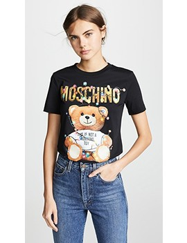 Christmas Lights Bear T Shirt by Moschino