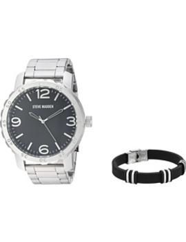 Analog Watch And Bracelet Set Sms590960 by Steve Madden