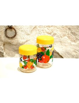 Vintage Mason Jars With Fruits Decor by Etsy