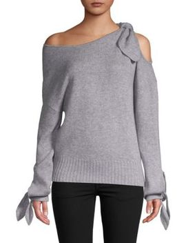 Off The Shoulder Cashmere Sweater by Derek Lam