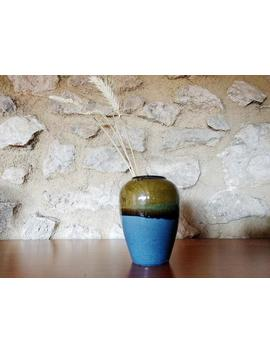 Vintage 70's Stoneware Gradient Vase Made In Spain by Etsy