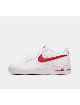 Junior Air Force 1 3 Gs Trainer   White / Gym Red by Nike