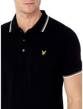 Tipped Short Sleeve Polo Shirt by Lyle And Scott