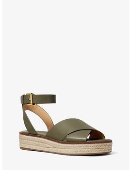 Abbott Leather Espadrille Sandal by Michael Michael Kors