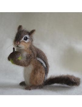 Naald Vilten Chipmunk, Realistisch, Leven Grootte Poseable by Etsy