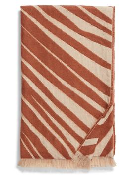 Palm Leaf Jacquard Throw Blanket by Treasure & Bond