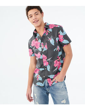 Hibiscus Floral Woven Shirt by Aeropostale