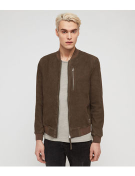 Stones Suede Bomber Jacket by Allsaints