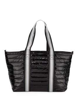 Wingman Glossy Quilted Tote Bag by Neiman Marcus
