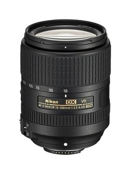 Af S Dx Nikkor 18 300mm F/3.5 6.3 G Ed Vr Telephoto Zoom Lens For Select Nikon Dx Format Dslr Cameras   Black by Nikon