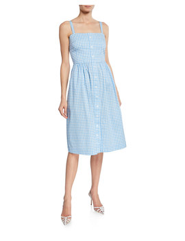Laura Cotton Gingham Dress by Hvn