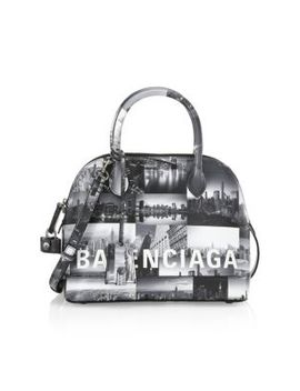 New York Skyline Leather Bag by Balenciaga