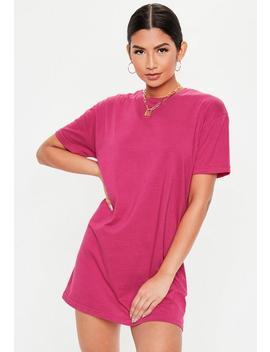 Fuchsia Basic T Shirt Dress by Missguided