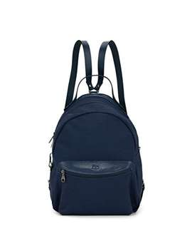 Canvas & Leather Zip Around Backpack by Il Bisonte