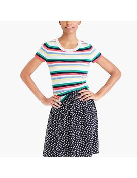 Striped Cashmere Short Sleeve T Shirt by J.Crew