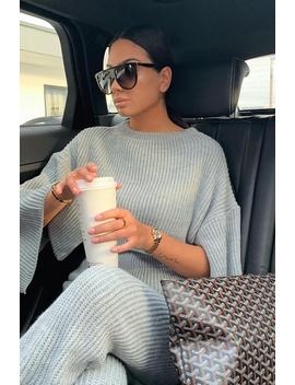 Grey Chunky Knit Loungewear Set   Harper by Rebellious Fashion