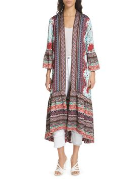 Dottie Reversible Long Kimono by Alice + Olivia