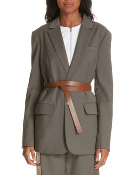 Tablier Belted Blazer by Tibi