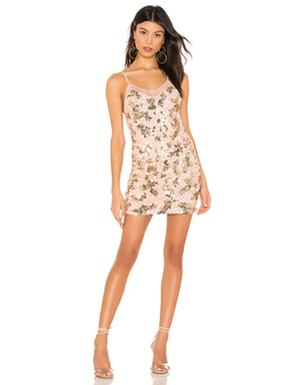 Nolita Mini Dress In Pink And Gold by H:Ours