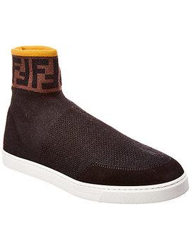 Fendi Knit High Top Sneaker by Fendi