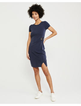 Hardware Accent Short Sleeve Dress by Abercrombie & Fitch