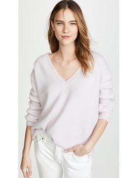 Oversized V Neck Cashmere Sweater by James Perse