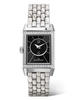 Reverso Classic Duetto Small Stainless Steel And Diamond Watch by Jaeger Le Coultre